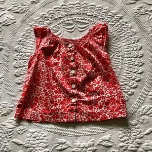 Gap 12-18 month red/white Top